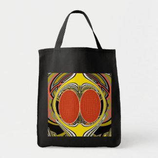 Gold orange superfly design canvas bags