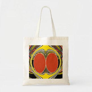 Gold orange superfly design tote bag