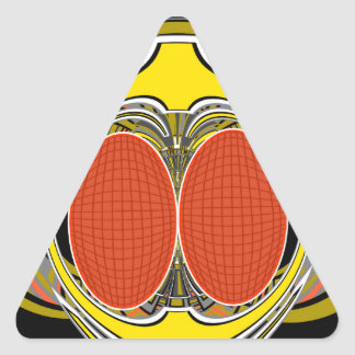 Gold orange superfly design stickers