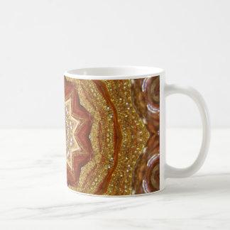 gold ornament artwork coffee mugs