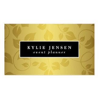 Gold Ornamental Pattern Elegant Pack Of Standard Business Cards