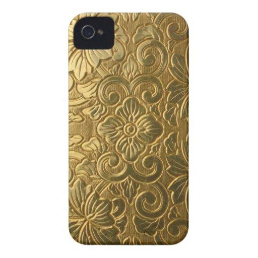gold ornate BlackBerry Case