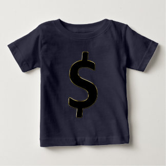 Gold Outlined $ Baby T-Shirt