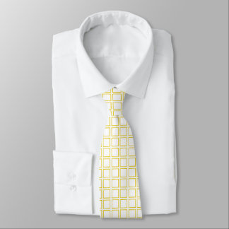 Gold Outlined Squares Tie