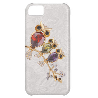 Gold Owls Jewels Paisley Lace iPhone 5 iPhone 5C Case