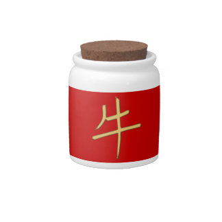 gold ox candy jar