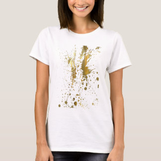 Gold Paint Splatter T-Shirt