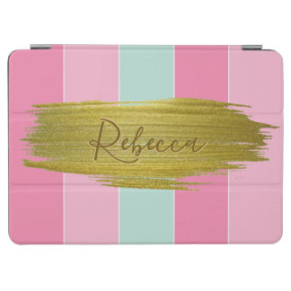 Gold Paint Stroke Colorful Stripes - iPad Cover