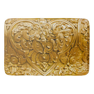 Gold painted,antique wood work,vintage,elegant, bath mats