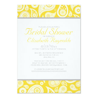 Gold Paisley Bridal Shower Invitations
