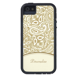 Gold Paisley Pattern iPhone 5 Case