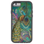 Gold Paisley Peacock & Feather iPhone 6