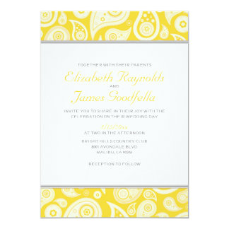 Gold Paisley Wedding Invitations