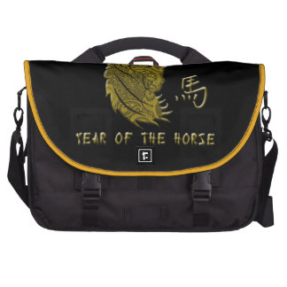 Gold Paisley Year of the Horse Bag For Laptop