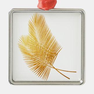 Gold palm leaf tropical ornament