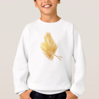 Gold palm leaf tropical shirt kid