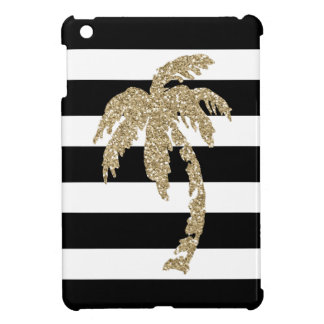 Gold Palm Tree Bold Stripes iPad Mini Case