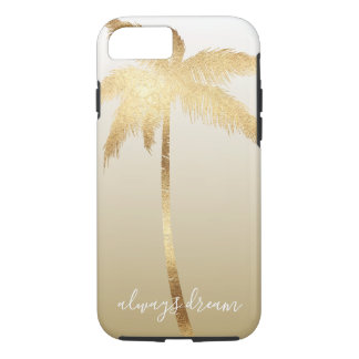 Gold Palm Tree Dream Ombre iPhone 8/7 Case