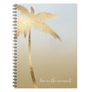 Gold Palm Tree Ombre Notebook