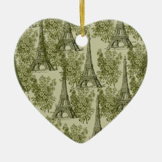 Gold Paris Ceramic Heart Decoration