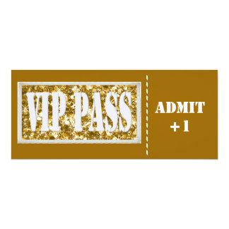 Gold  party VIP invitation
