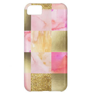 gold,pastels,water colors,squares,collage,modern,t iPhone 5C case
