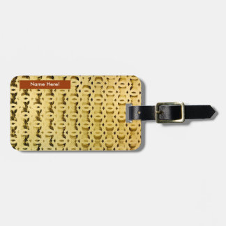 Gold Patron design for Luggage Tag