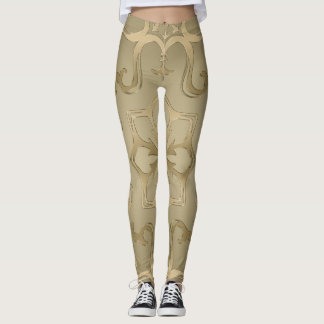 Gold Pattern Mandala Leggings