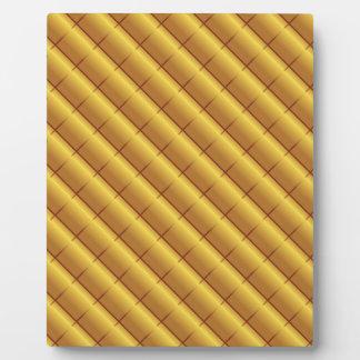 Gold Pattern Plaque
