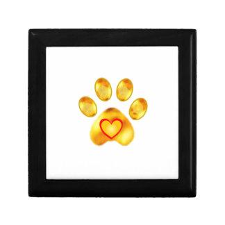 Gold Paw Gift Box