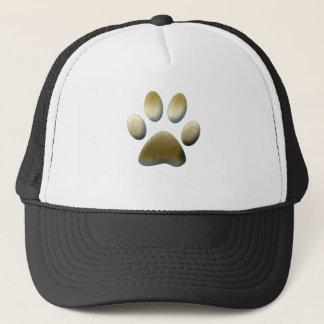Gold Paw Print Trucker Hat