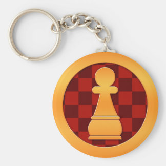 Gold Pawn Chess Piece Key Ring