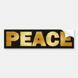 GOLD PEACE BUMPER STICKER