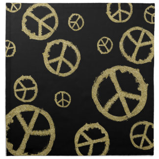 Gold Peace Cloth Napkins