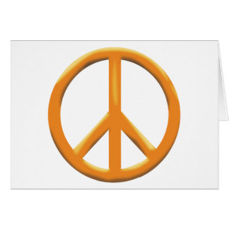 GOLD PEACE SIGN GREETING CARD