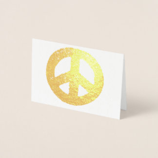 Gold Peace Symbol Foil Foil Card