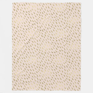 Gold Peach Abstract Fleece Blanket