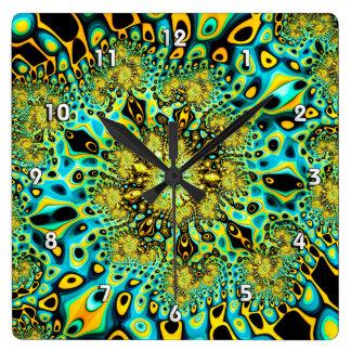 Gold Peacock Brago-Mitchell Fine Fractal Art Wallclocks