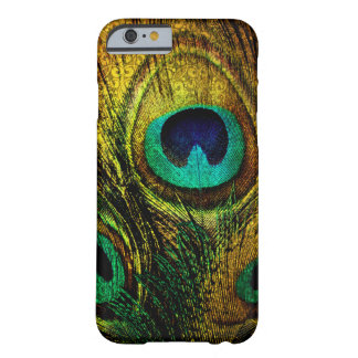 Gold Peacock Feather Pattern Case Barely There iPhone 6 Case