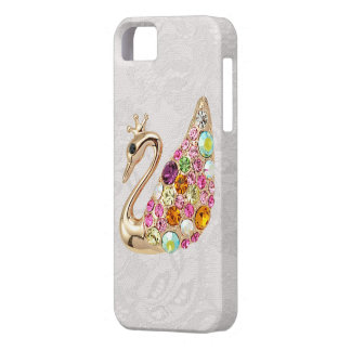 Gold Peacock & Jewels Paisley Lace iPhone 5 Case