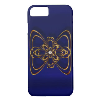 Gold pearl medallion shiny iPhone 7, Barely There iPhone 7 Case