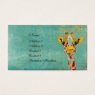 Gold Peeking Giraffe Business Card/Tags