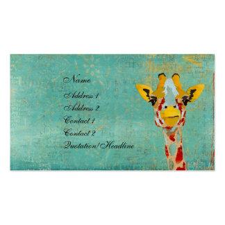 Gold Peeking Giraffe Business Card/Tags Pack Of Standard Business Cards