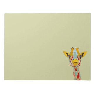 Gold Peeking Giraffe Notepad