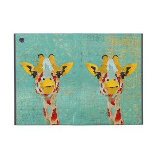 Gold Peeking Giraffes iPad Case