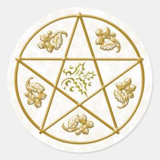Gold Pentacle, Holly & Oak - Sticker #2