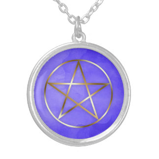 Gold Pentagram Star Occult Necklace