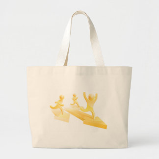 Gold people running race bags