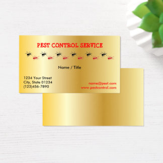 Gold Pest Service Single Sided Business Card