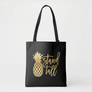 Gold Pineapple Stand Tall Tote Bag